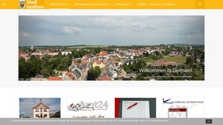 Screenshot: Homepage Stadt Geithain