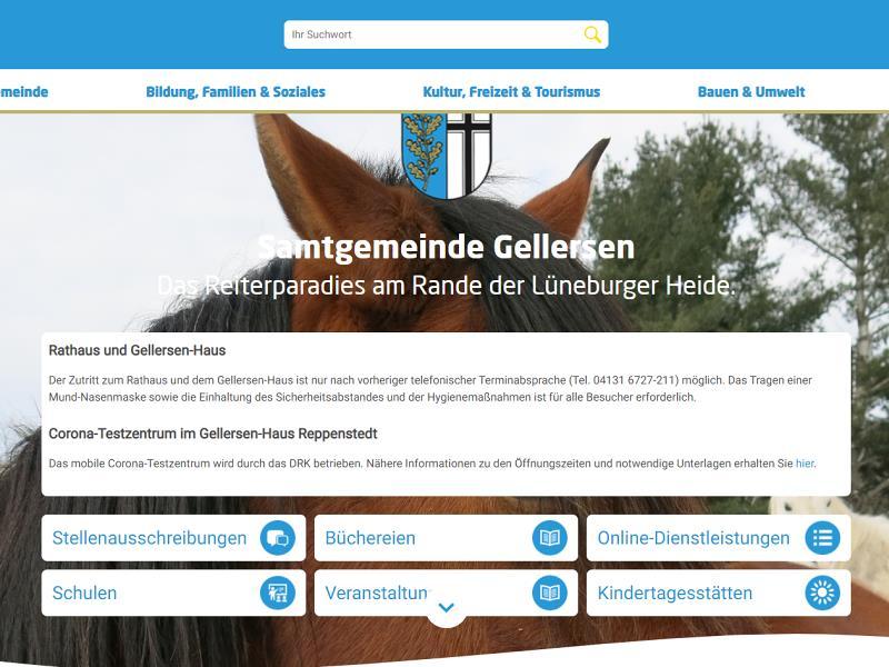 Screenshot: Homepage Samtgemeinde Gellersen