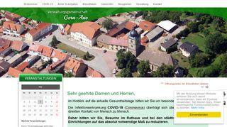 Screenshot: Homepage Verwaltungsgemeinschaft Gera-Aue