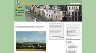 Screenshot: Homepage Stadt Geringswalde