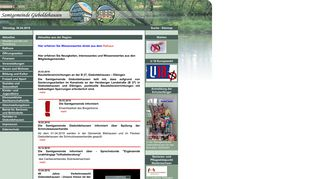 Screenshot: Homepage Samtgemeinde Gieboldehausen