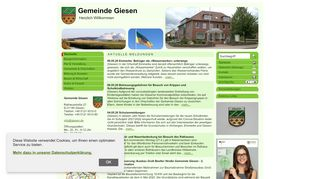 Screenshot: Homepage Gemeinde Giesen