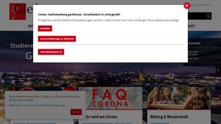 Screenshot: Homepage Stadt Gießen