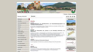 Screenshot: Homepage Gemeinde Gleichen