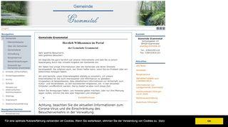 Screenshot: Homepage Landgemeinde Grammetal