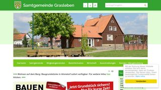 Screenshot: Homepage Samtgemeinde  Grasleben