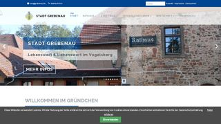 Screenshot: Homepage Stadt Grebenau