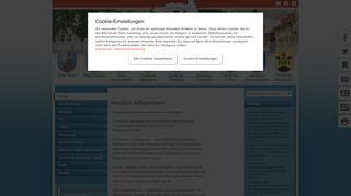 Screenshot: Homepage Verwaltungsgemeinschaft Greußen