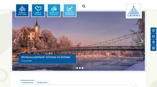 Screenshot: Homepage Stadt Grimma