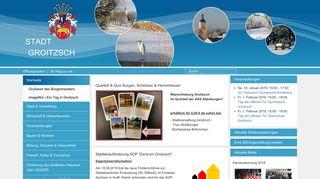 Screenshot: Homepage Stadt Groitzsch