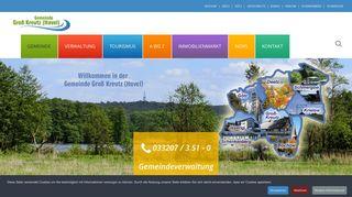 Screenshot: Homepage Gemeinde Groß Kreutz