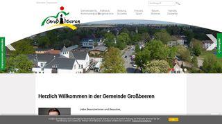 Screenshot: Homepage Gemeinde Großbeeren
