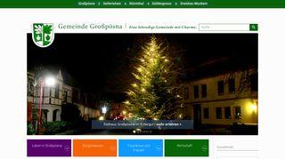 Screenshot: Homepage Gemeinde Großpösna