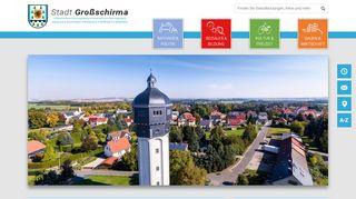 Screenshot: Homepage Stadt Großschirma