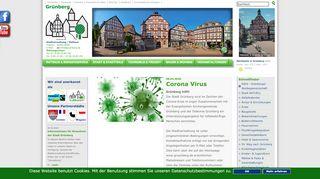 Screenshot: Homepage Stadt Grünberg
