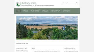 Screenshot: Homepage Gemeinde Halsbrücke