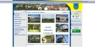 Screenshot: Homepage Stadt Hartha