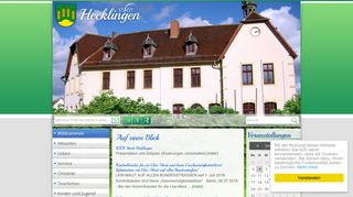 Screenshot: Homepage Stadt Hecklingen