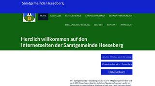 Screenshot: Homepage Samtgemeinde  Heeseberg