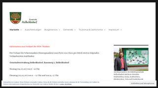 Screenshot: Homepage Gemeinde Helbedündorf