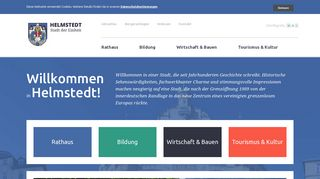 Screenshot: Homepage Stadt Helmstedt