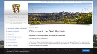 Screenshot: Homepage Stadt Herbstein