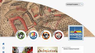 Screenshot: Homepage Stadt Herzberg