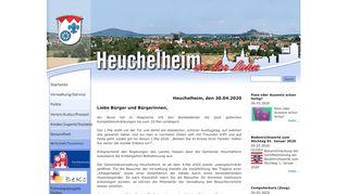 Screenshot: Homepage Gemeinde Heuchelheim