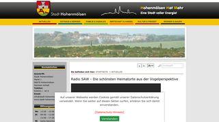 Screenshot: Homepage Stadt Hohenmölsen