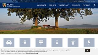 Screenshot: Homepage Gemeinde Holle