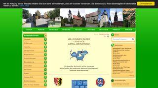 Screenshot: Homepage Landgemeinde Ilmtal-Weinstraße