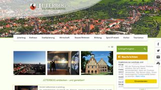 Screenshot: Homepage Stadt Jüterbog