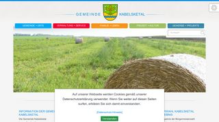 Screenshot: Homepage Gemeinde Kabelsketal