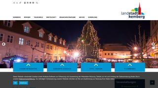 Screenshot: Homepage Stadt Kemberg