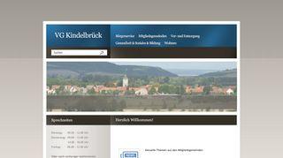Screenshot: Homepage Verwaltungsgemeinschaft Kindelbrück