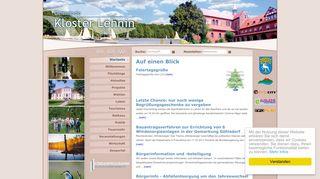 Screenshot: Homepage Gemeinde Kloster Lehnin