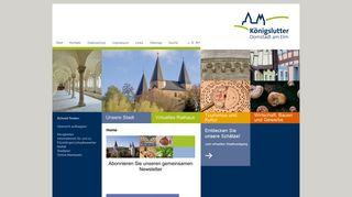 Screenshot: Homepage Stadt Königslutter