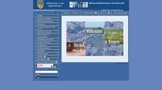 Screenshot: Homepage Stadt Könnern