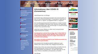 Screenshot: Homepage Verwaltungsgemeinschaft Kranichfeld