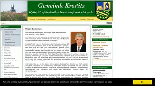 Screenshot: Homepage Gemeinde Krostitz
