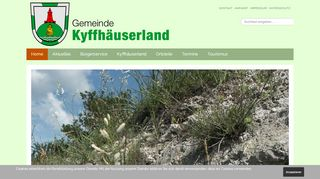Screenshot: Homepage Gemeinde Kyffhäuserland
