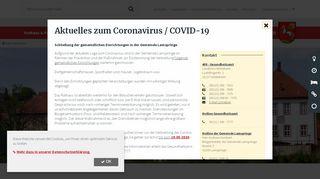 Screenshot: Homepage Gemeinde Lamspringe
