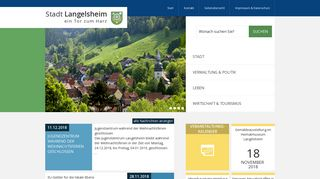 Screenshot: Homepage Stadt Langelsheim