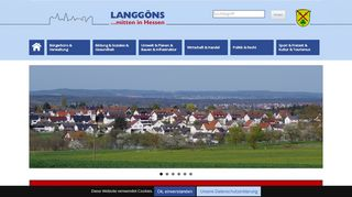 Screenshot: Homepage Gemeinde Langgöns