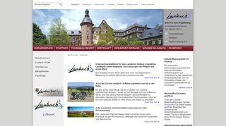 Screenshot: Homepage Stadt Laubach