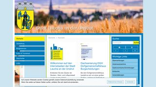 Screenshot: Homepage Stadt Laucha