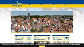 Screenshot: Homepage Stadt Lauterbach