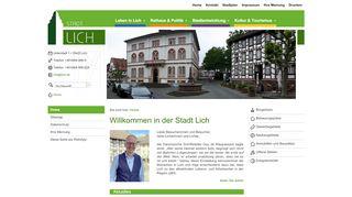 Screenshot: Homepage Stadt Lich