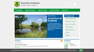 Screenshot: Homepage Gemeinde Lichtenau