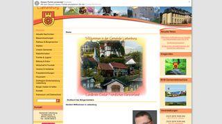Screenshot: Homepage Gemeinde Liebenburg